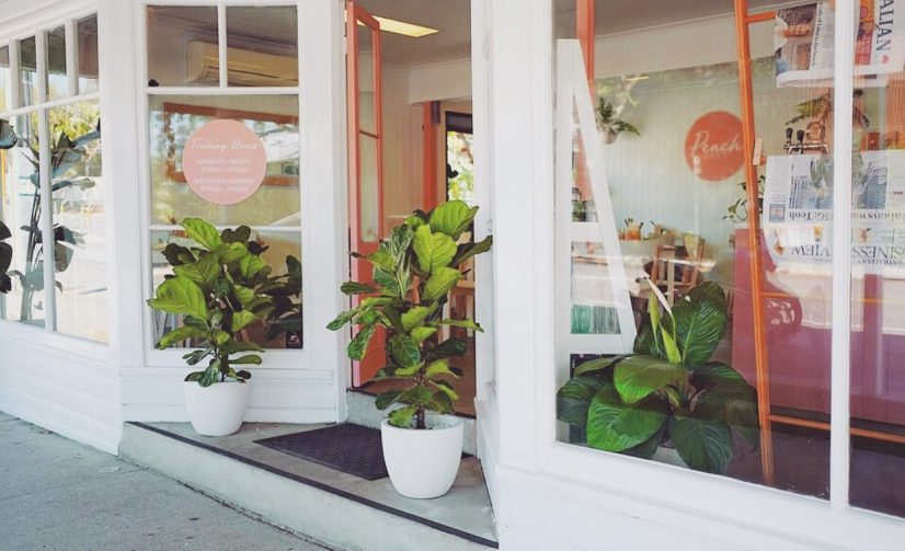 Peach Cafe in Auchenflower Opens at Former Flower Shop's Site